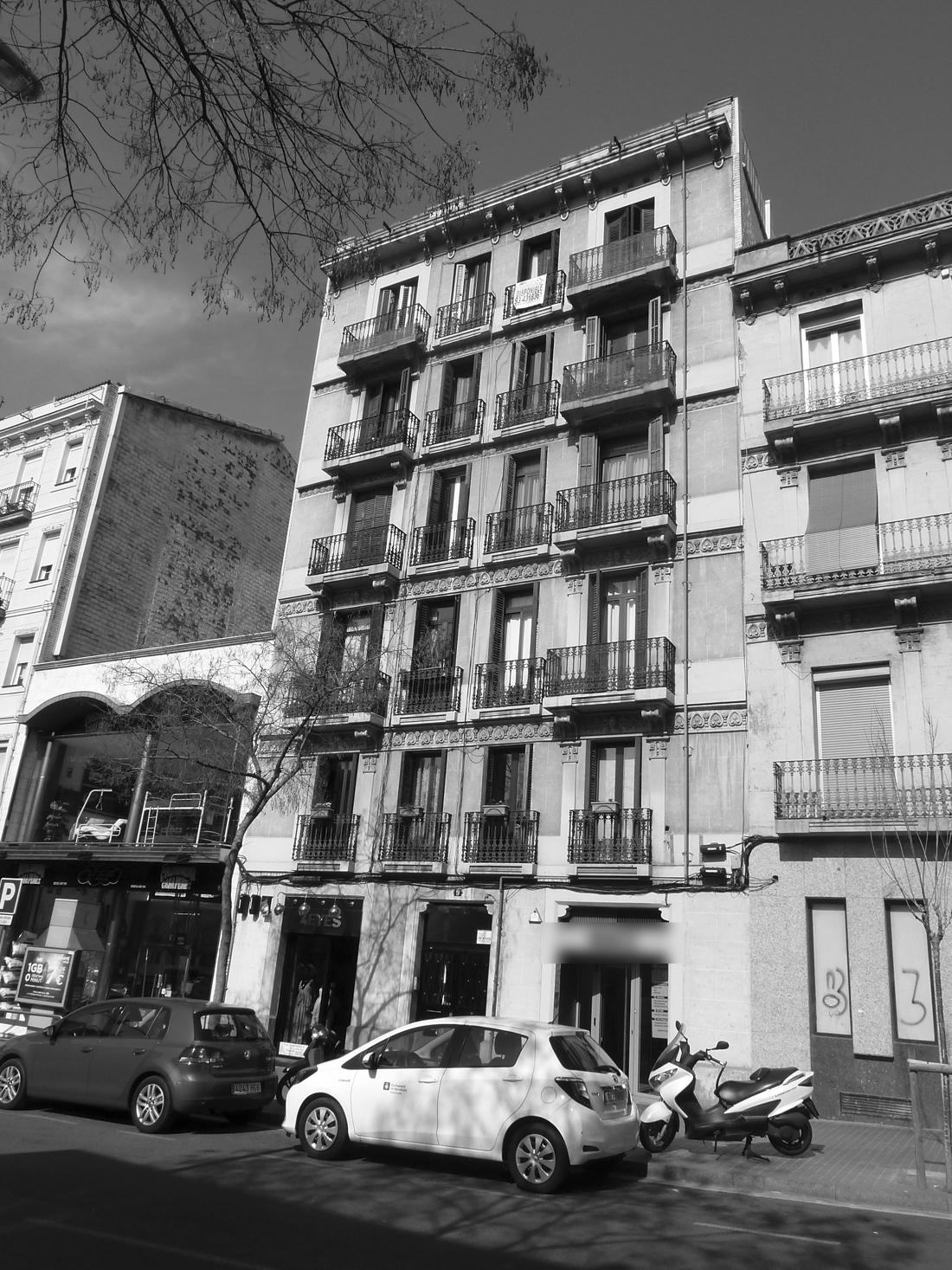 Intervención reforma fachada principal